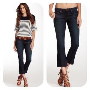 J Brand Murphy Gigi Mid Crop Flare Stretch Jeans